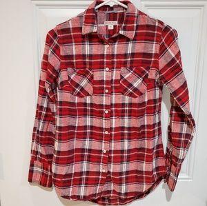 Merona Women's Plaid Button-up Shirt